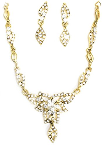 Zaveri Pearls Floral  Necklace Set  for Women-ZPFK1098  available at amazon for Rs.190