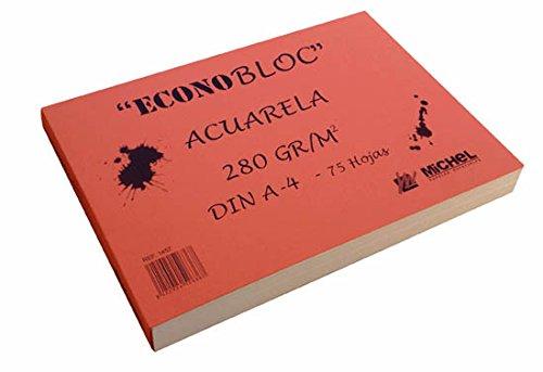 Econobloc acuarela Michel 280g 20x20 cm
