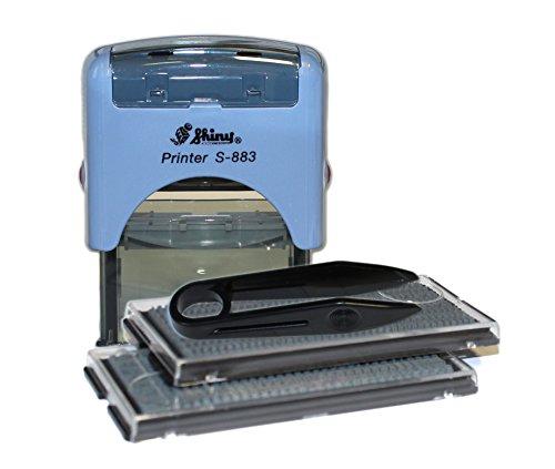Textstempel Shiny S-883 zum Selbstgestalten, Firmenstempel, Stempel-automat, Selbstfärbe-stempel, 14 x 38 mm Stempelplatte selber erstellen