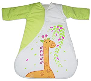 PurFlo Travel SleepSac, Embroidered Giraffe 1.0 Tog (18 Mths +) Baby Sleeping Bag