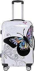 BEIBYE 2060 Polycarbonat Hartschale Koffer Trolley Reisekoffer Butterfly L