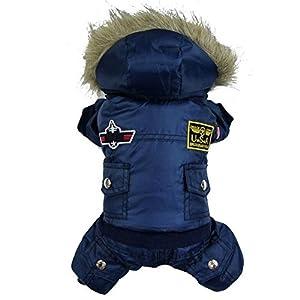 Yunt Mignon Costume Air USA Manteau Doudoune Chaud Combinaison Design de 4 Pattes pour Chien Chiot