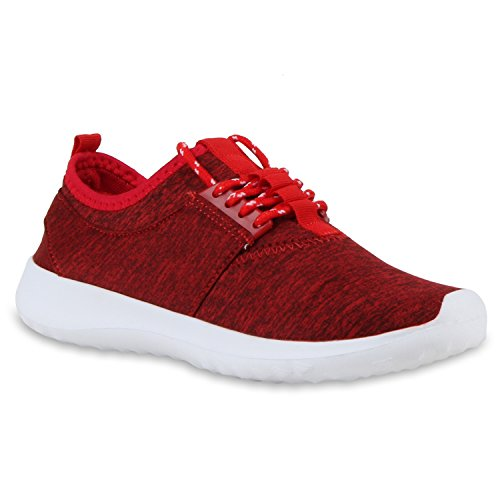 Modische Herren Sportschuhe | Freizeit Sneaker Snake | Laufschuhe Runners Trainers | Sneakers Schuhe Rot Stoff