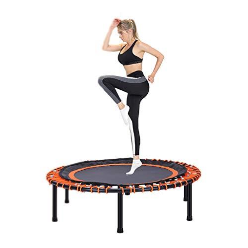 Trampolini elastici per interni trampolino elastico fitness trampolino super salto training mini trampolino professionale con manico elastico (color : black, size : 101 * 101 * 26cm)