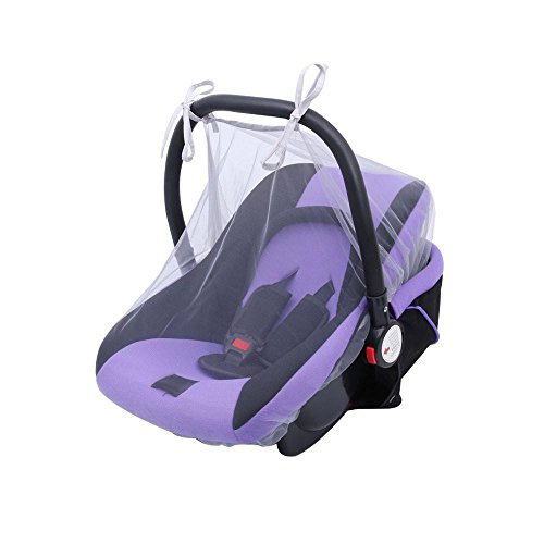 Y56 Baby-Krippe Seat Moskitonetz Newborn Curtain Car Seat Insect Netting Canopy Cover (Grau)