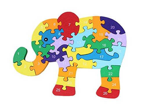 Anastoy Puzzle ABC Animales Letras Y Números, Puzzle con abecedario, Alfabeto Rompecabezas Juguetes Educativos, Elefante