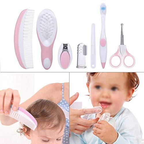 Zerodis 7 pz/set kit per il sonno profondo per la cura del bambino di assistenza sanitaria sicuro infante daily infermiere strumento spazzola per capelli nail forbici rosa caldo