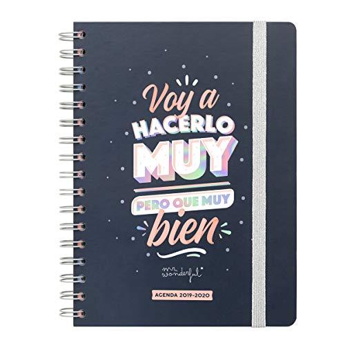 Calendario Mr Wonderful 2020.Agenda Clasica Grande 2019 2020 Semana Vista Encuadernacion Espiral