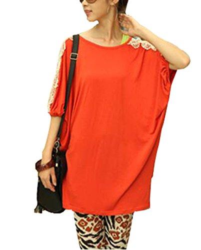 lemongirl-camisas-para-mujer-naranja-naranja-talla-unica