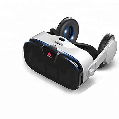 ILYO VR-Headset, 3D-Virtual-Reality-Headset mit Einstellbarer Motorhaubenmaske mit blauem...