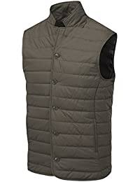 VEDONEIRE Mens City Gilet (3058 BROWN) quilted padded sleeveless waistcoat jacket