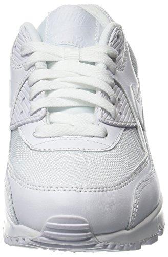 Nike Air Max 90 Essential, Herren Sneakers, Weiß (White/white-white-white), 43 EU (8.5 Herren UK) - 4