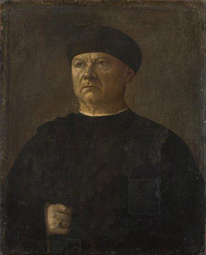 Das Museum Outlet-Italian-Portrait Of ein Alter Mann, gespannte Leinwand Galerie verpackt. 29,7x 41,9cm