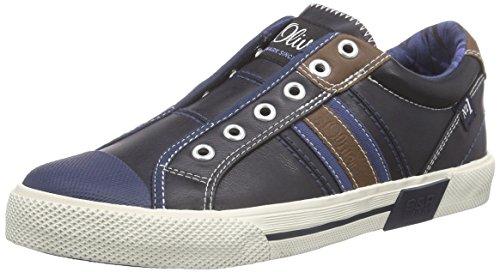 s.Oliver 44100, Baskets Basses garçon Bleu - Bleu (NAVY 805)