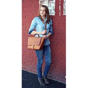 4126ymHPq4L. SS300  - PAUL MARIUS LE POSTIER (S) Bolso bandolera de piel, estilo vintage, bolso a mano, bolso bandolera, color marrón Vintage…