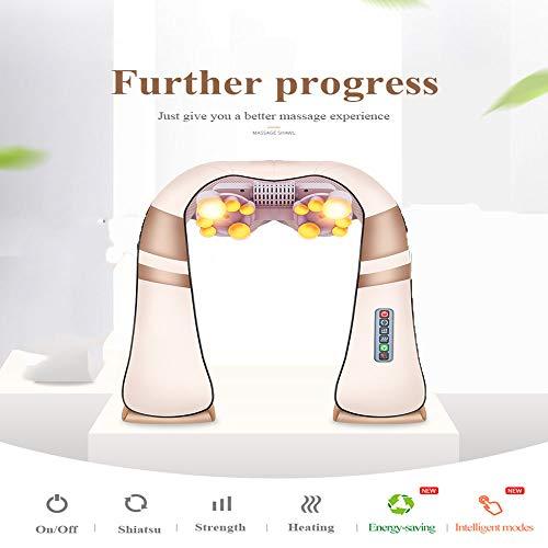 Preisvergleich Produktbild Home Auto Electric Massager Entspannende Massage U-Förmige Nacken Rücken Schulter Fingerdruck Infrarot 3D Knet Massager