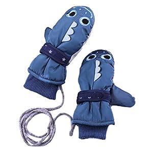 iClosam Kinder Winterhandschuhe Fausthandschuhe,Skihandschuhe Winddicht wasserbeständig Warm Ski Fäustlinge Jungen Mädchen für 4-8 Jahre