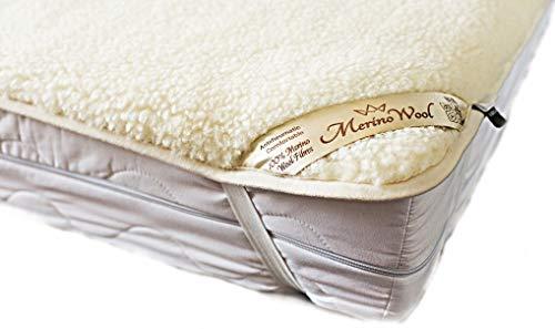 Merino wool bedding vendita coprimaterasso in lana merino una piazza e mezza coprimaterasso 120 x 200 cm con elastici agli angoli woolmark mattress topper pad 120 x 200 cm