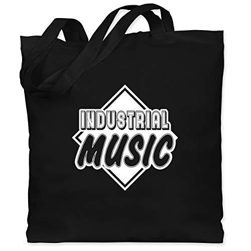 Shirtracer Festival - Industrial Music - Unisize - Schwarz - WM101 - Stoffbeutel aus Baumwolle Jutebeutel lange Henkel -