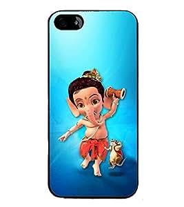 Fuson Designer Back Case Cover for Apple iPhone 4 (Animated Ganesha Ganesh Ganesha Hindu wisdom)