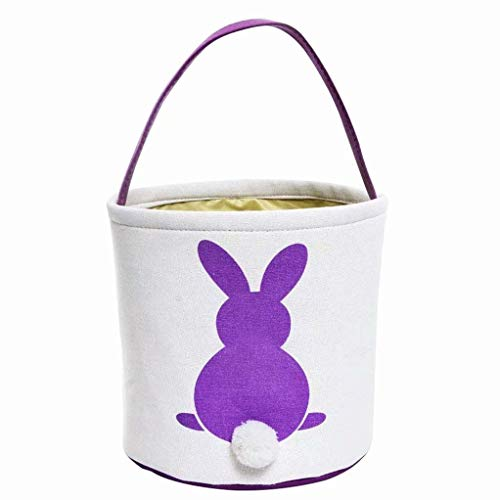 Frecoccialo Ostertasche Hase Süßigkeiten Korb Sammeltasche Kinder Spielzeug Jute Geschenk-Tasche ()