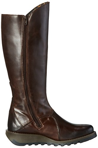 FLY London Damen Mol 2 Langschaft Stiefel Braun (Dkbrown 004)