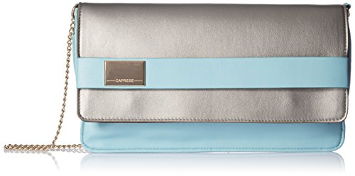 Caprese-Maurine-Womens-Clutch-Dull-Silver-and-Mint
