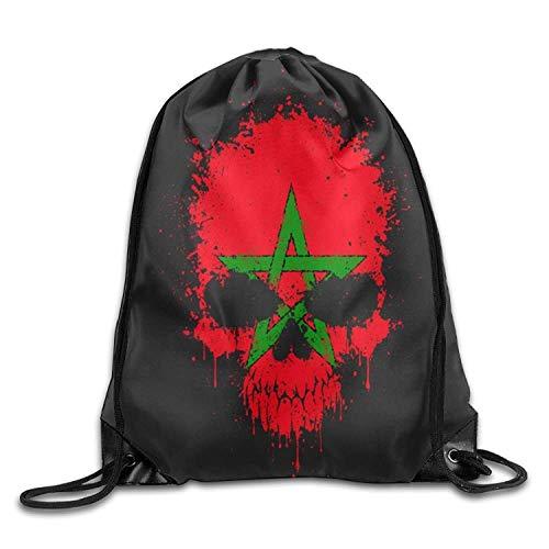 Vilico - Mochila de Viaje, diseño de Calavera marroquí con Bandera de Reino Unido