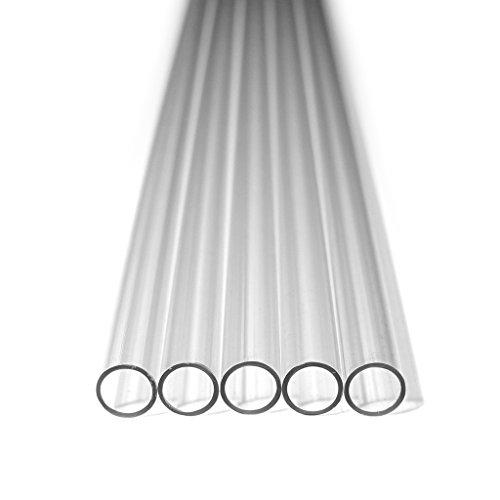 Nanoxia 300200645 PETG Hard Tube 12/10mm, Außendurchmesser 12mm, Innendurchmesser 10mm, 5X 50cm Röhren