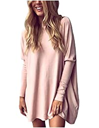 Odosalii Womens Oversized Batwing Baggy Long Sleeve Pullover Sweater  Knitwear Jumper T-Shirt Tops c86b41ba1