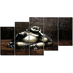 DekoArte - Cuadro moderno en lienzo Buda zen 150x80cm
