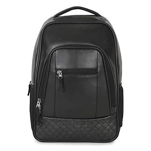 Fur Jaden Leatherette Laptop Waterproof Backpack Bag for Men and Women (25L) for Office, Travel, School and College (Black)
