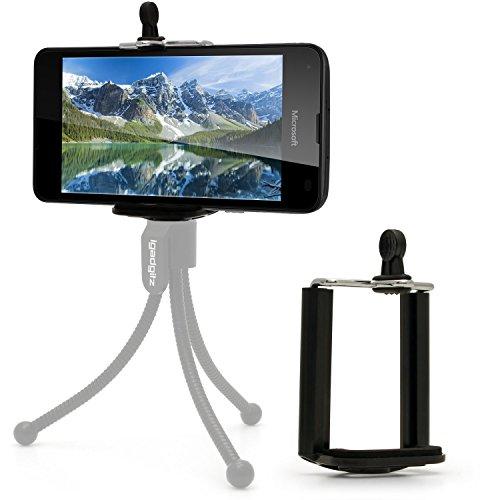 igadgitz Stativ & Selfie Stange Smartphone Halter Halterung Stativadapter Clip für Microsoft Lumia 950 XL 950 550 535 640 540 430 850 435 532