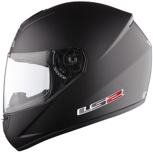 Casco de la motocicleta LS2 FF351 Mono casco integral (M, Mate negro)