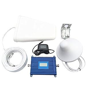 Lintratek Répéteur de Signal 3G de Mobile Fixe 70dbi Gain de WCDMA 2100MHz Téléphone Mobile Amplificateur de signal avec Affichage LCD