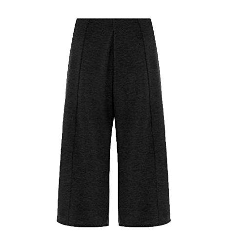 MISS n MAM Damen Hose Gr. 38, schwarz (Wide Leg Ponte Pants)