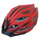 Casco da Montagna con Cappuccio Lungo Il Casco da Equitazione Sportivo Ultra Leggero e Traspirante Cappello Rigido Moda Rosso