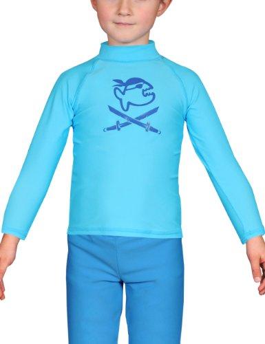 IQ-Company Kinder UV-Shirt IQ 300 Kiddys Long Sleeve Jolly Fish Turquoise, 110