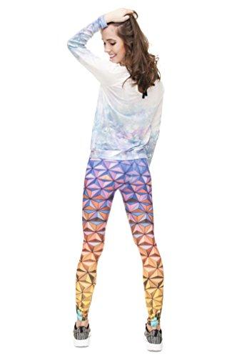 Long Femmes Filles Leggings Jegging imprimé Fitness Pantalon Skinny stretch Galaxy Pantalon de sport d'entraînement - Epcot