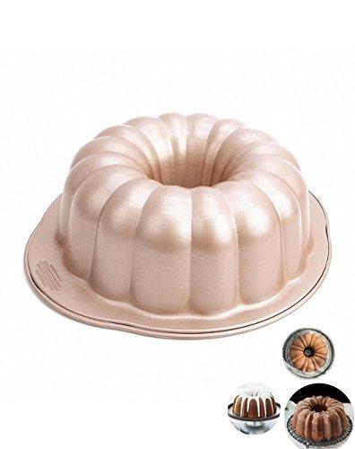 Johnson & Sookie Molde Bundt Cake/Moldes Para Tortas/ Kranz-Kuchen/Napf-Kuchen (10 x 3,5 pulgadas de profundidad)
