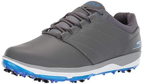 Skechers Golf 2019 Chaussures de Golf à Crampons Go Golf Pro V.4 pour Hommes Grey/Blue 7.5UK