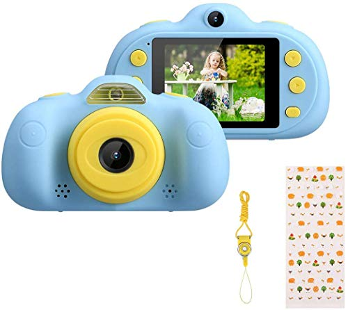 Excelvan Kinder Kamer Digitale Kinderkamera Fotoapparat Kinder Video HD 8,0 MP Funktion Foto/Video/MP3/MP4/Game Unterstützung TF Karte 32GB Hochauflösend mit LED-Licht Blau (B-Blue) (B-Blue)