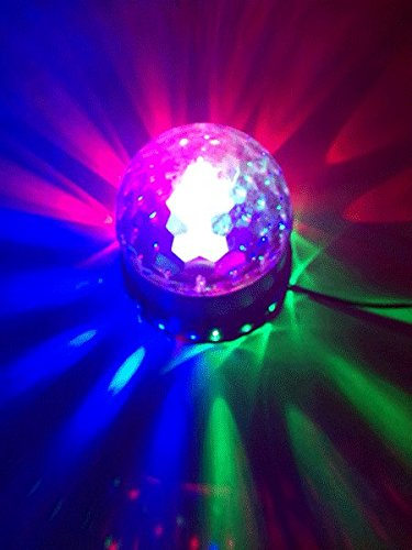 Ibiza LED UFO Lichteffekt LED-Untertasse Decken-Beleuchtung (48 leuchtstarke RGB LEDs, Automatik, Ne - 2