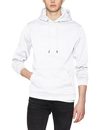 AWDis Herren Kapuzenpullover Sports Polyester Hoodie White (Arctic White)