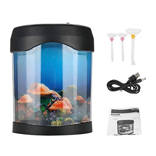 USB LED Mini Desktop künstlich Quallen Lampe Farbe wechseln Licht Effekt Stimmungslicht Aquarium