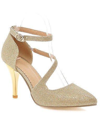 WSS 2016 Chaussures pu talons talon aiguille / orteil pointu talons bureau des femmes&carrière / argent casual / or silver-us9 / eu40 / uk7 / cn41