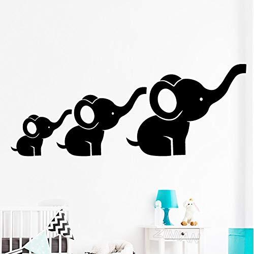 Conjunto de 3 Familia del Elefante Tatuajes de Pared Niños Decoración de...