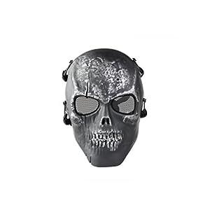 Wangc Spiel Maske Full Face Spiel Schützen Schädel Live CS Skeleton Airsoft Sichere Maske