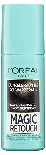 Preisvergleich Produktbild L'Oréal Paris Magic Retouch Ansatz-Kaschierspray, Dunkelbraun bis Schwarzbraun, 1er Pack (1 x 75 ml)
