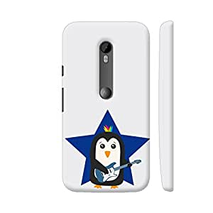 Colorpur Rock Guitar Penguin Artwork On Motorola Moto G Turbo Cover (Designer Mobile Back Case) | Artist: Torben
